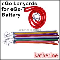 Wholesale E Cig Q Kit - eGo-T Lanyards String Necklace Rings for E Cigarette E Cig eGo-T eGo Q W F C Battery Kits Various Colors Good Quality Mixed Colors Available