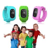 gsm gsm çocuk yer belirleme toptan satış-Akıllı İzle KAREA Q50 Çocuk Kid Kol Saati GSM GPRS Bulucu Izci Anti-kayıp Smartwatch Çocuk Guard Noel hediyesi olarak