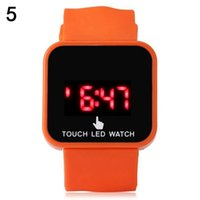 Wholesale Mirror Led Watch Round - Fashion Touch Screen Mirror LED Date Silicone Men Lady Outdoor Sport Watch candy color men women led watches