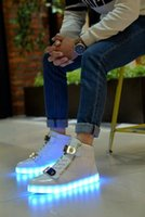 online shopping Usb Light Shoes - 2016 Wholesale black Running Shoes Trainers Shoes Sports Shoes 7 colour USB charging LED Light shoes Luminous shoes Men Shoes YDX1