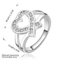 Wholesale Party Stores - Big Sale for new Store Hot Selling 925 Sterling Silver Rhinestone Heart Rings