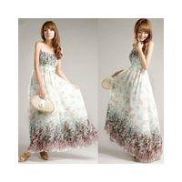 Wholesale Boho Gypsy Maxi Dress - Women Ladies Chiffon Boho Gypsy Hippie Maxi Summer Beach Slip Dress Sundress