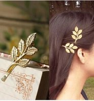 Wholesale Wedding Hair Side - TS275 Hot New Fashion Wedding Hair Accessories Olive Branches Leaves Beautiful Bride Hairpin Side Folder Jewelry