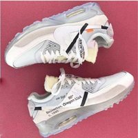 Wholesale Zip Up Ties - With Original Box Zip Tie 1990 Off x Air 90 Ice 10X Virgil Abloh Sports Shoes for Men Ten Casual Sneakers Size 40-46