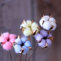 Wholesale plant processes - 4pcs Artificial Flower Art Photography Cotton Branch Decor Wedding Decorations Country Style Process Plants Camera Christmas