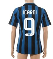 2,015 qualité Thai Football Top Football Tops 9 # ICARDI chers Maillots de Foot Sportif, gros Formation personnalisée Outdoor Sports Football