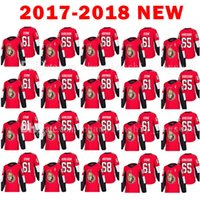 Wholesale M Mark - Mens Ottawa Senators 61 Mark Stone Jersey 2017-2018 New 65 Erik Karlsso 68 Mike Hoffman Hockey Jerseys 18