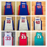 Wholesale Hills Gold - Men's #0 Andre Drummond #10 Dennis Rodman Jerseys,#11 Isaiah Thomas 40#Bill Laimbeer 33# Grant Hill Basketball Jersey Embroidery Free S