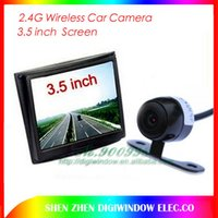Wholesale 2 G Wireless Car Rear View camera Back Up Wide Angle Camera System inch Color Monitor Screen