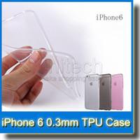 galaxy s5 cristal transparente al por mayor-Crystal Clear Transparent Soft Silicon 0.3mm TPU para iPhone 6 6 Plus 5 5s Galaxy S5 Sony Z3