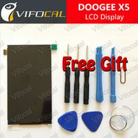doogee x5 мобильный телефон оптовых-Wholesale-DOOGEE X5 Pro LCD Display Screen + Free Torx tools 100% Original Assembly Replacement For DOOGEE X5 Mobile Phone - In Stock
