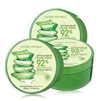Wholesale Aloe Whitening Cream - Nature Republic NEW Soothing& Moisture ALOE VERA 92%GEL (300ml) 10.56 Fluid Ounce After Sun repair Aloe Vera gel whitening anti-aging