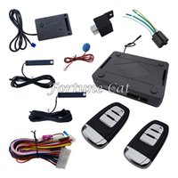 Wholesale remote passive keyless entry online - Rolling Code PKE Car Alarm System With Passive Keyless Entry Power Window Output Automatically Lock Unlock Car