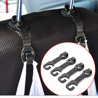 Wholesale Rear Hanger - 1Pair Car Back Seat Headrest Hanger Holder Hooks For Bag Purse Cloth Grocer Popular