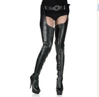 "Wholesale boots 15cm - HOT Crotch boots wtih belt 15cm heel thigh high sexy 6"" heels matte platform boots zipper over the knee SEXY FETISH BDSM boots"