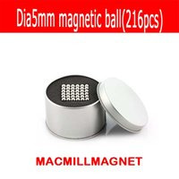 Wholesale N35 Rare Earth - 216pcs NdFeB D5mm Neodymium Spheres Magnetic Ball Super Strong Rare Earth N35 Small Fridge Magnets round magnets N35 magnets