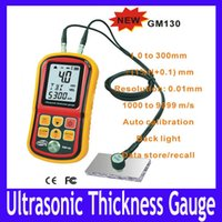 Wholesale Ultrasonic thickness tester GM130 range mm steel