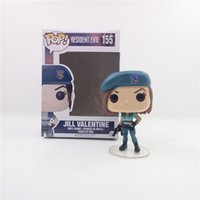 Wholesale Evil Toys - FUNKO POP Resident Evil Jill Valentine 155# Q Version Action Figure Toys Movie Characters Model for Gift PABITOYFIRM
