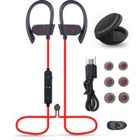 Wholesale Sport Wireless Bluetooth Mic - 56S Wireless Bluetooth Earphones Waterproof IPX5 Headphone Sport Running Headset Stereo Bass Earbuds Handsfree With Mic 55pcs