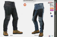 Wholesale Motorcycle Pant Mesh - JAPAN KOMINE PK719 Locomotive jeans summer half mesh Leisure Motorcycle Jeans With knee protector Rider pants CE Gear Size S M L XL XXL XXXL