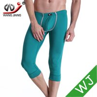 Wholesale Tight Sexy Pajamas - Wholesale-men summer cotton trousers mens lounge pants mens sleep shorts mens joggers leggings sleep tight pajamas capris sexy men 3012-ZK