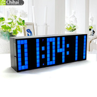 ingrosso l'orologio mondiale principale-Digital Big Jumbo LED Countdown Temperatura Calendario World timer Desk Clock Orologio da tavolo LED Alarm Clock
