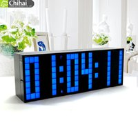 Wholesale Table Calendar Desk - Digital Big Jumbo LED Countdown Temperature Calendar World timer Desk Clock Table Clock LED Alarm Clock