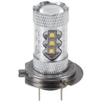 cree led blanco brillante al por mayor-80 W H7 CREE Chip High Bright 16 x LED luz de niebla del coche lámpara de niebla del coche con 360 grados de luz de conducción del coche cabeza de niebla diurna