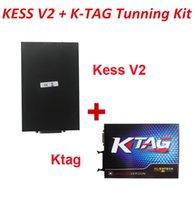 Wholesale New Kess V2 Obd2 - New KTAG V2.13 + KESS V2 V2.30 OBD2 Tuning Kit without Token Limitation K-TAG+Kess V2 4.036 DHL EMS fast shipping