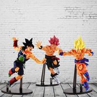 Wholesale Dragon Ball Z Big Toys - 22CM Dragon ball Z SCultures BIG ZOKEI TENKAICHI BUDOKAI #5 Super Saiyan Son Goku Bardock PVC action Figure Toy