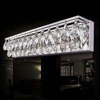 Wholesale mirror wall light crystal - Sconce Light Wall Light Crystal K9 LED Modern Bathroom Mirror Front Light Fixture Bedroom Lamp Bathroom Lighting Fixtures
