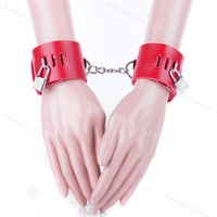 Wholesale Cute Sexy Sex - Sex toys Cute Powder bracelet sexy manacle clutch passion hand ring plolicy bowl sex products With a Sexy Dice Red