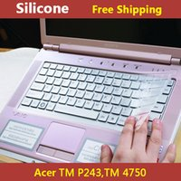 Wholesale Acer Silicone Keyboard Cover - Wholesale-Silicone transparent laptop Keyboard cover skin protector for acer TM P243,TM 4750,buy one gift one