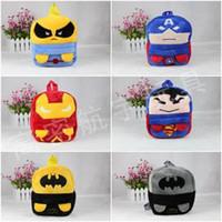 mochilas de berçário venda por atacado-Vingadores saco dos desenhos animados saco de pelúcia berçário mochilas escolares para crianças mochila C001
