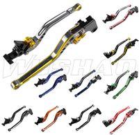 honda cbr debriyaj kolu toptan satış-Renkli Motosiklet Ayarlanabilir Uzun Fren Debriyaj Kolları Için 03-06 Honda CBR600RR F5 CBR 600 RR 02-03 Honda CBR954RR CBR 954 RR