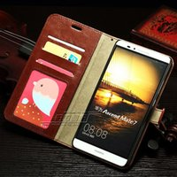 Wholesale Deluxe Flip Cases - PU Leather Wallet Case For Huawei MATE 7 Deluxe Flip Stand Phone Bag With Photo Frame Wholesale