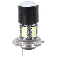 Wholesale H7 Lens Led Light - 12V 12W 750LM H7 High Power CREE R5 LED Car Fog light Projector Lens White Light Vehicle Foglamp with 12 x 5050 SMD