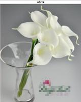 Wholesale Egyptian Calla Lily - Hot 100pcs 35cm Elegant Silicon Artificial Egyptian Calla Lily Alocasia Flower for Wedding Bridal centerpieces Decorations