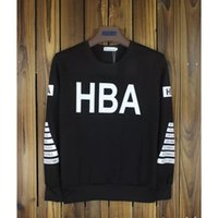 Pullover spring air hoods - Fashion HOOD BY AIR HBA Hoodies spring autumn couples round Neck Circles casual pullover black Men HIP HOP Sweatshirts sportwear