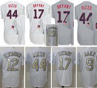 Wholesale Man Program - 44 Anthony Rizzo 17 Kris Bryant Jersey Men 12 Kyle Schwarber 23 Ryne Sandberg 9 Javier Baez Baseball Jerseys 2017 Gold Program
