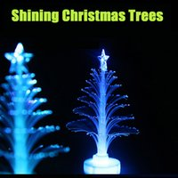 Wholesale Christmas Electric Light Wholesalers - 2015 Christmas Decorations Christmas Trees With Light Shinning Trees 24pcs pack Small Night Light Christmas Gifts Free Shipping