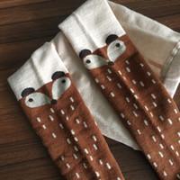 Wholesale Pantyhose 3d - HOT Kids Lovely 3D Fox socks pantyhose Baby Boy Girl Leg Warmer stockings suitable for 0-4Y Cotton Animal image free ship MOQ:36pairs