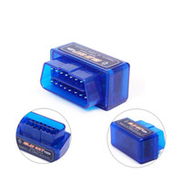 Wholesale Elm327 Best Price - Wholesale-Super Mini ELM327 Bluetooth Adapter V2.1 with best Price OBD2 Auto Diagnostic tool elm 327 blue color Free shipping