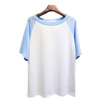 Wholesale Color Institute - Wholesale-2015 Korean Summer women T-shirt Institute wind spell color loose short sleeved T-shirt raglan sleeve half female 8016