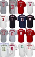 2017 Pas Cher Hommes Femmes Enfants Washington 11 Ryan Zimmerman 3 Michael Taylor Blanc Gris Rouge Bleu Cool Flex Base Baseball Jerseys