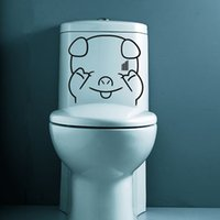 Sweat Adesivo Sticker Home Decor FAI DA TE Rimovibile Arte Del Vinile Murale Per Wc / Bagno / Armadio Porta / Vetro QTM44 Lovely Cartoon