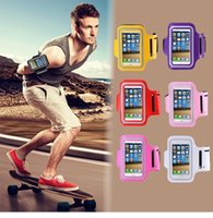 Wholesale Iphone 4s Case Sport - Waterproof Sports Running Armband Case For iphone 4S 5G 5C 5S 6 6s plus samsung note 3 huawei xiaomi 4.9-6.0 inch Arm Bag 10 Colors