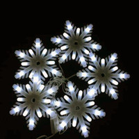 Wholesale Little Waterproof Led Lights - Christmas Decoration Milky White Little Snowflake LED String Lights, with AC220V Voltage Input 2.5 Meter a Set