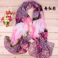Wholesale Thin Silk Scarves - 2016 New Fashion Leopard grain scarves Blue and White Porcelain Style Thin Section the Silk Floss Women Scarf Shawl