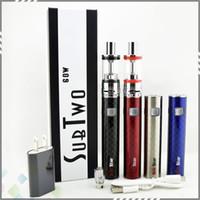 ingrosso kit di avviamento per sigarette vapore-Sub due sigarette elettroniche del vapore del dispositivo d'avviamento di 60W con 4.5ml atomizzatore del corredo della penna di Vape della batteria di Sub 2200mah del vaporizzatore del DHL DHL libero
